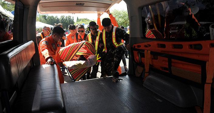 Ambulancia en Filipinas (archivo)
