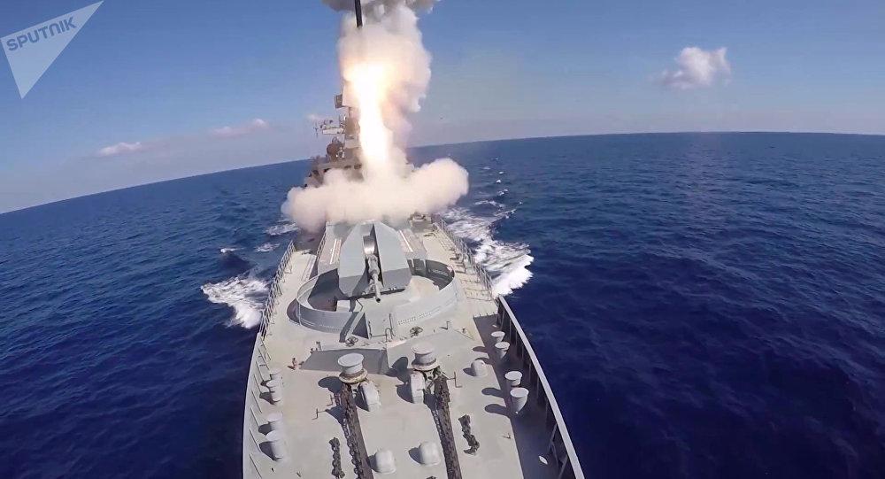 Los misiles rusos Kalibr en Siria (archivo)