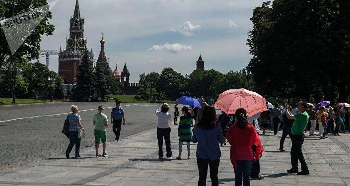 Turistas extranjeros en Rusia