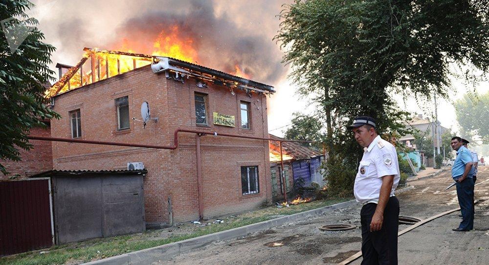 Incendio en Rostov del Don