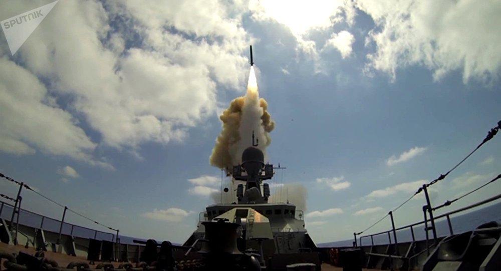 El lanzamiento del Kalibr en Siria (archivo)
