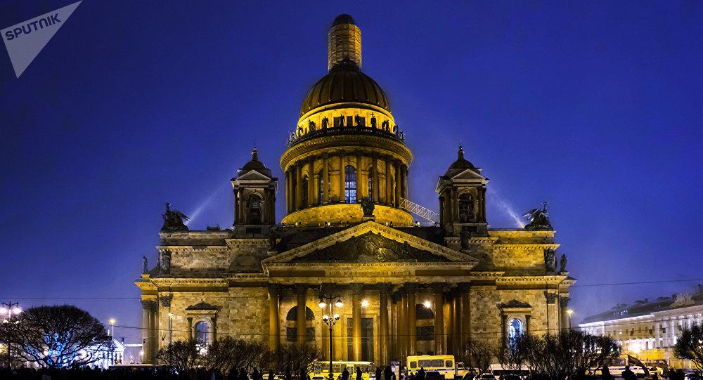 La catedral de San Isaac en San Petersburgo