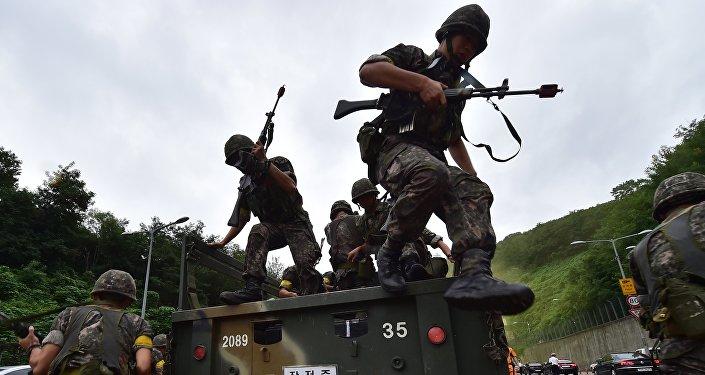 Soldados surcoreanos durante el Ulchi Freedom Guardian (archivo)