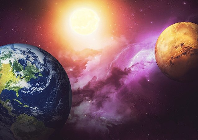 La Tierra y Marte (ilustración)