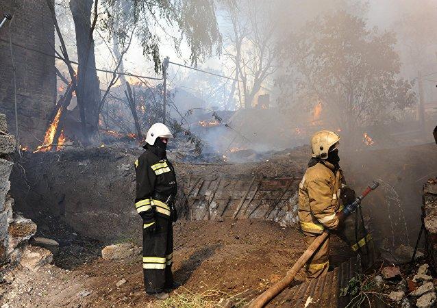 Incendio en la ciudad rusa de Rostov del Don