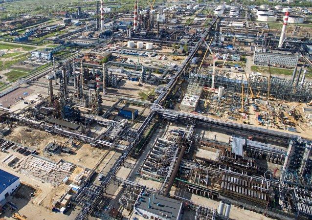 Una refinería