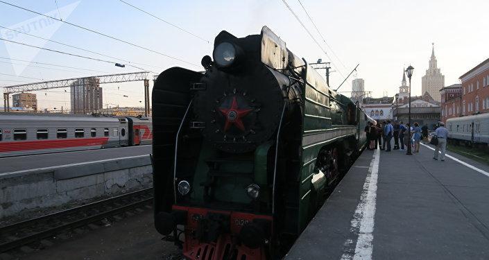 El tren 'Rusia Imperial' en la estación