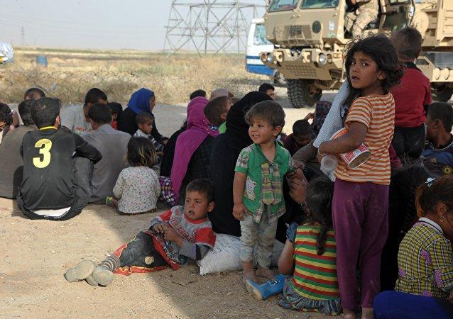 Refugiados en Irak (archivo)
