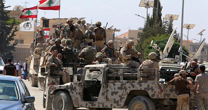 El Ejército del Líbano en Ras Baalbek
