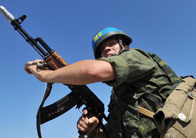 Soldado de las Fuerzas de interposición rusas en Transnistria