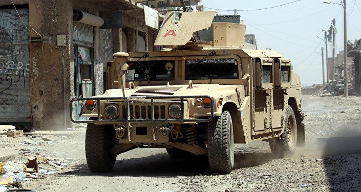 Un vehículo militar en Al Raqa (imagen referencial)