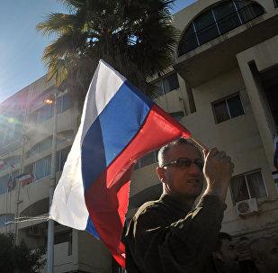 Una manifestación a favor de la operación rusa en Siria en la cidad de Tartus (archivo)