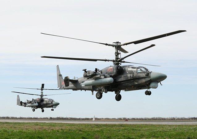 Unos helicópteros de combate polivalentes rusos (archivo)