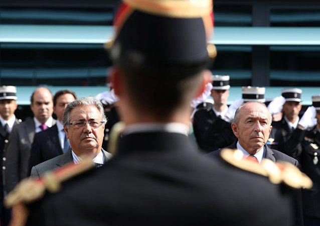El ministro del Interior francés, Gerard Collomb, y su homólogo español, Juan Ignacio Zoido