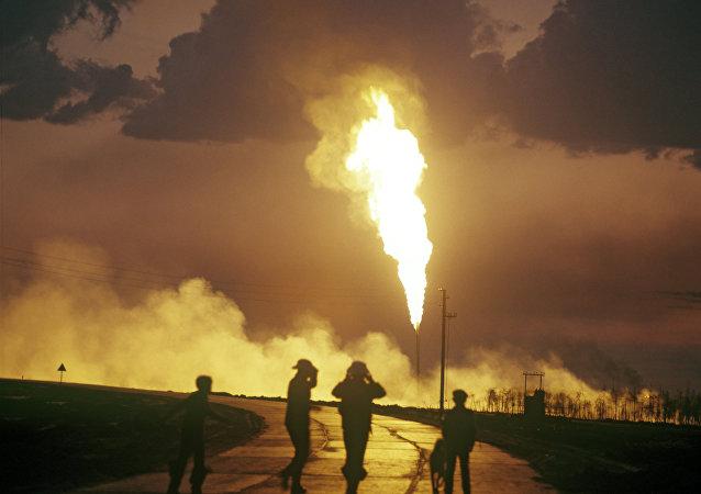 Gas ardiendo