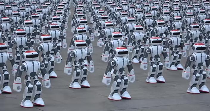 Vista encantadora: la danza simultánea de robots que rompe un récord mundial