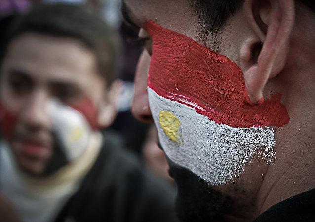 Los colores de la bandera de Egipto