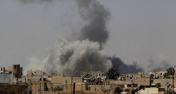 El ataque de la coalición internacional en Siria