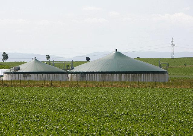 Una planta de biogás