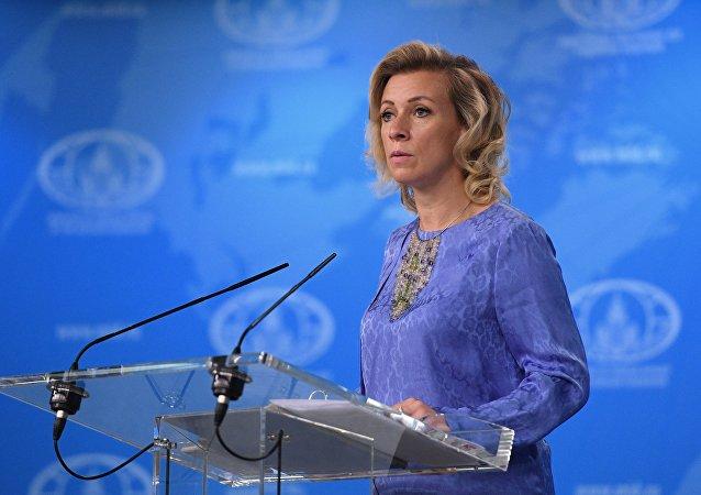 María Zajárova, portavoz del Ministerio de Asuntos Exteriores de Rusia