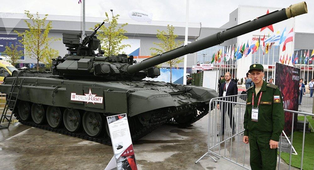 Tanque ruso T-90A en el Foro Army 2017