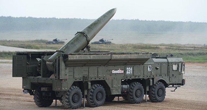 El sistema de misiles tácticos ruso Iskander en el Foro Army 2017