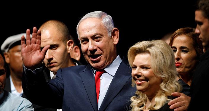 Primer ministro de Israel, Benjamín Netanyahu, con su esposa (archivo)