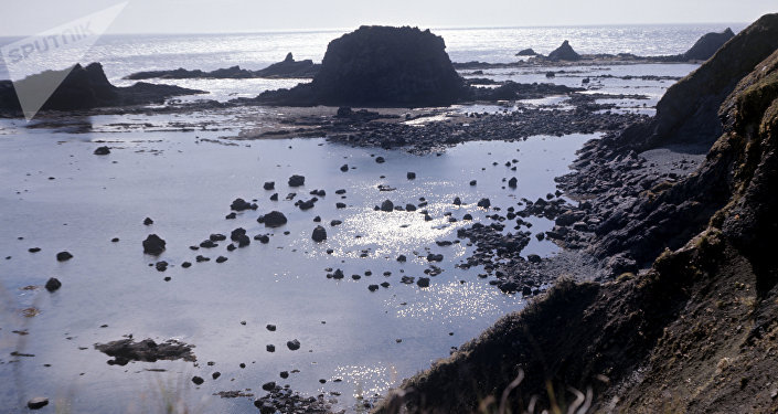 La isla Matua del archipiélago de las Kuriles