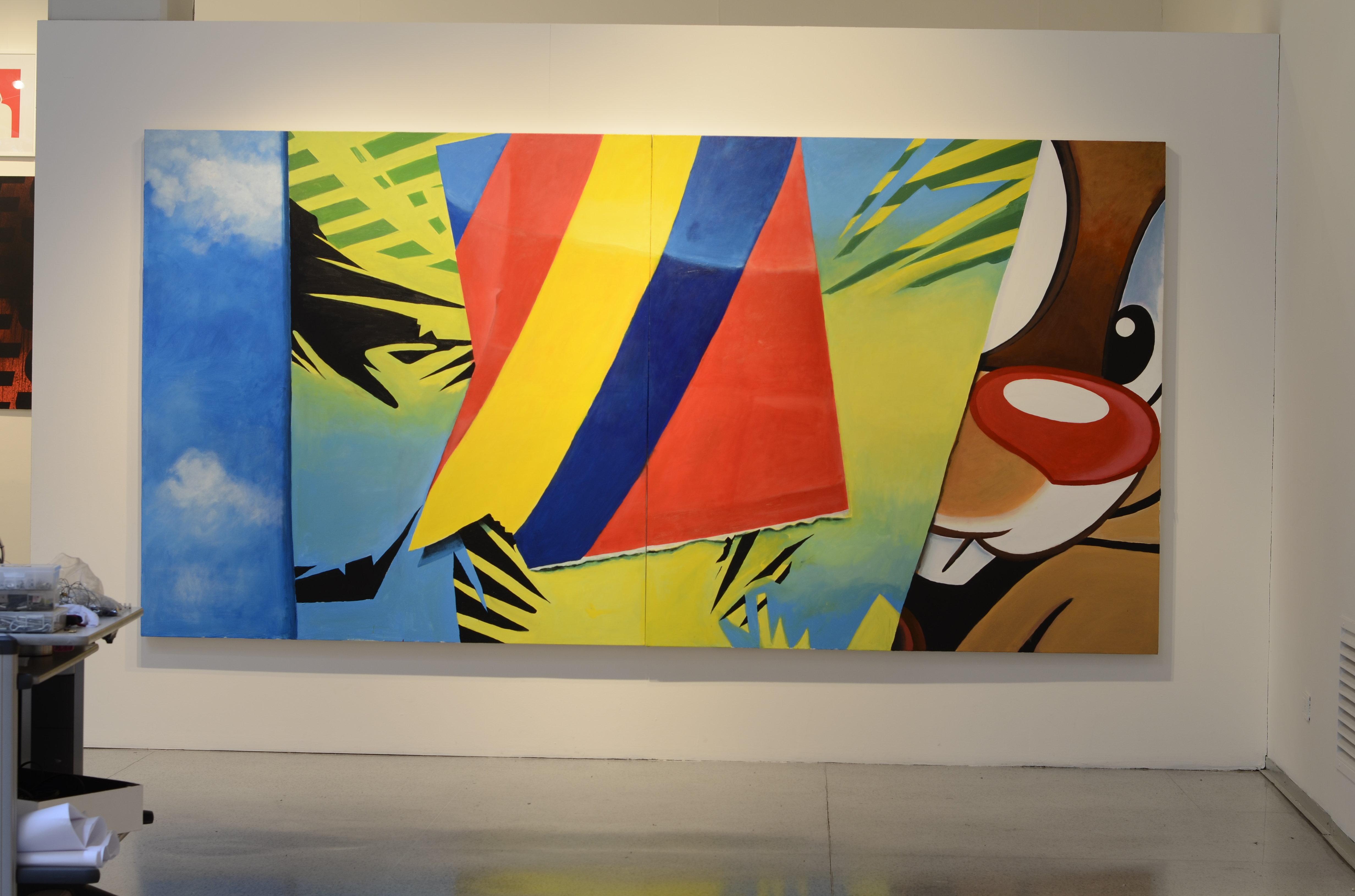 Obras expuestas en el Centro Cultural de España en Montevideo en ocasión de Bienalsur