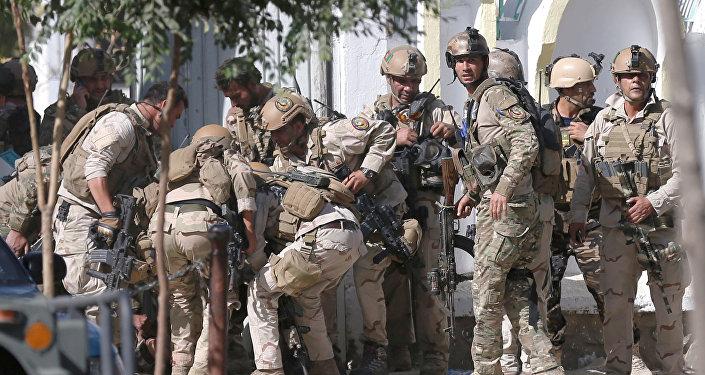 Policía de Afganistán en el lugar del ataque (archivo)