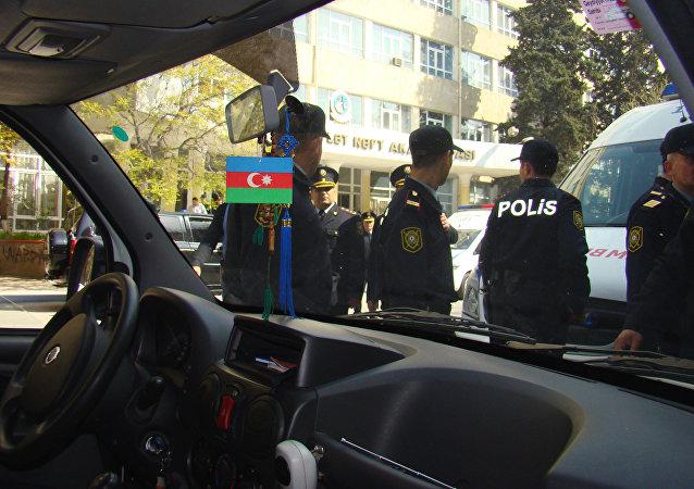 Policías de Azerbaiyán