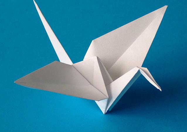 Una grulla de origami