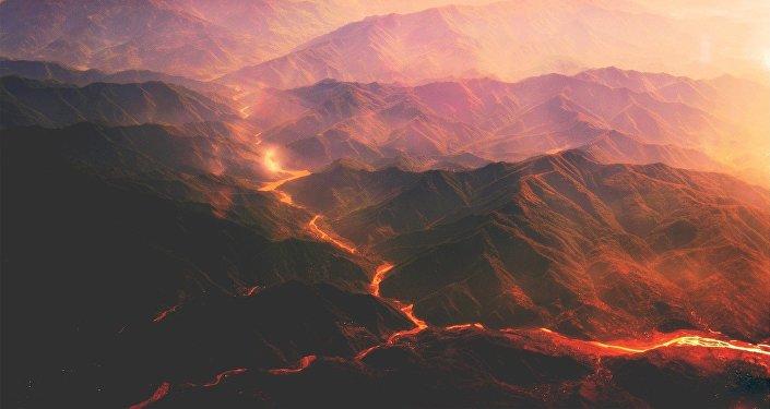 Una caldera volcánica (imagen referencial)