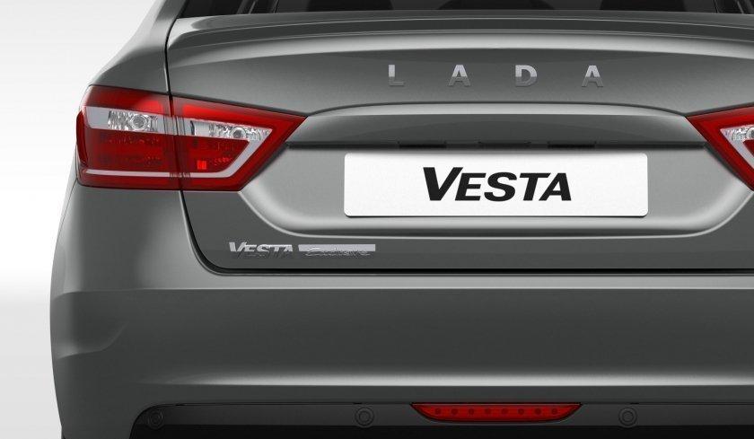 La parte trasera del nuevo Lada Vesta Exclusive