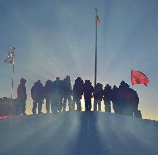 Investigadores rusos en el Ártico (archivo)
