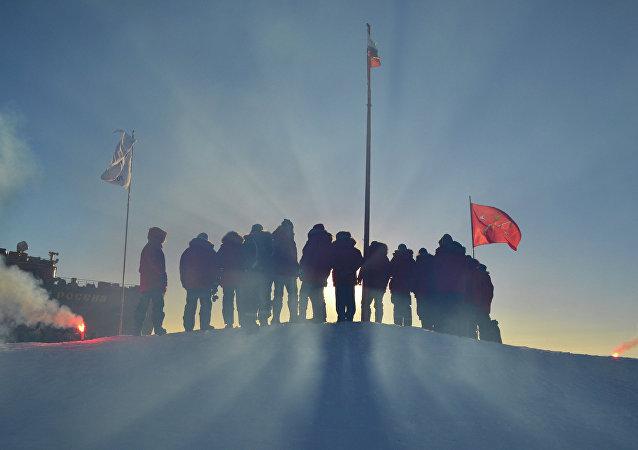 Investigadores polares rusos (archivo)