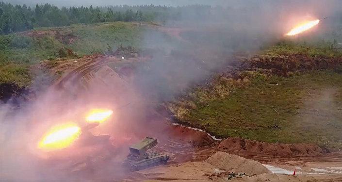Rusia pone a prueba el sistema de lanzacohetes incendiarios Solntsepiok