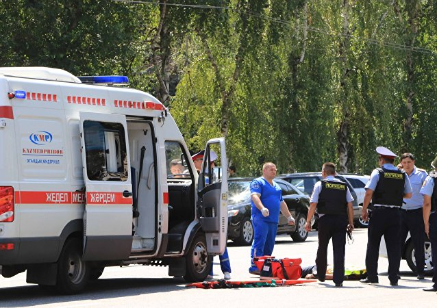 Ambulancia en Kazajistán (imagen referencial)