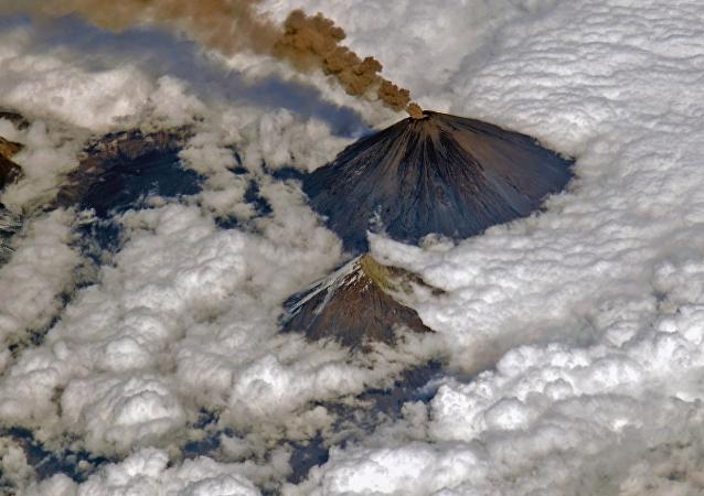El volcán Kliuchevskói