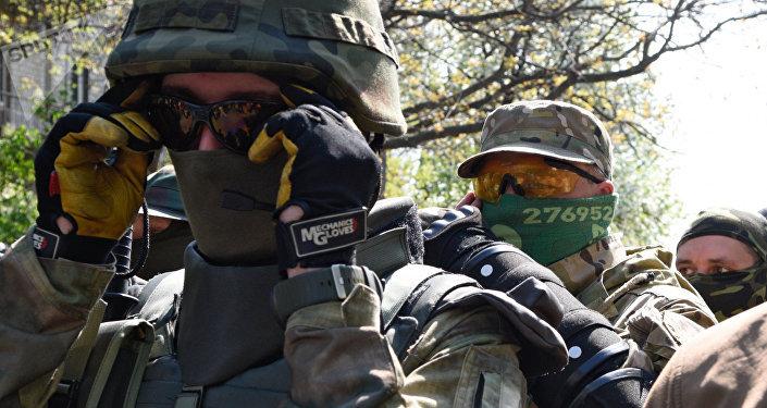 Efectivos del Servicio de Seguridad ucraniano