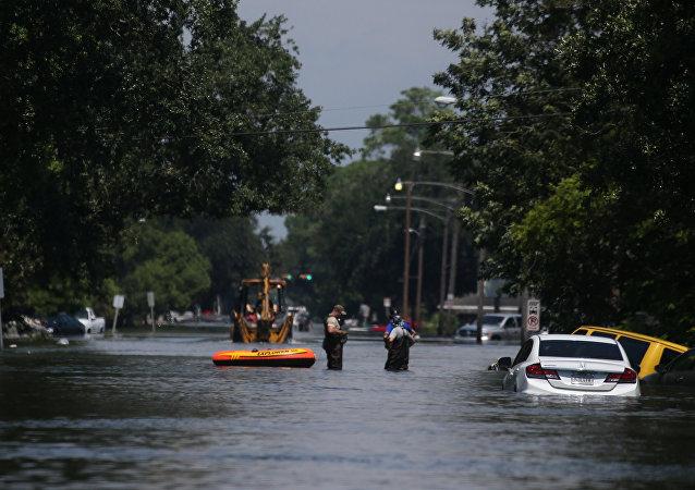 Consecuencias del huracán Harvey en Porth Arthur, Texas