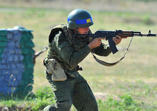 Militar ruso en Transnistria