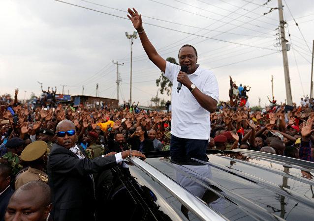 Uhuru Kenyatta, presidente de Kenia
