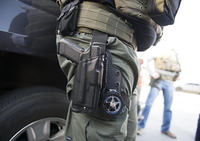Policía armado de EEUU (imágen referencial)