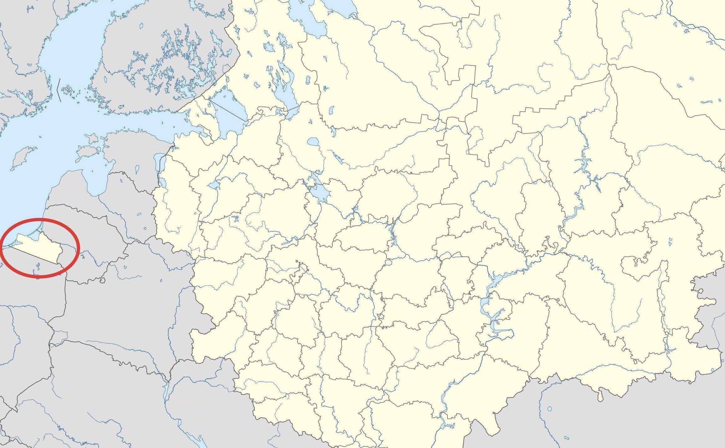 Localización de Kaliningrado
