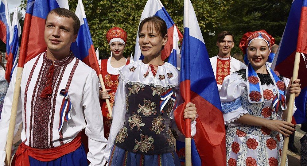 La celebración del Día de la Bandera Nacional (archivo)