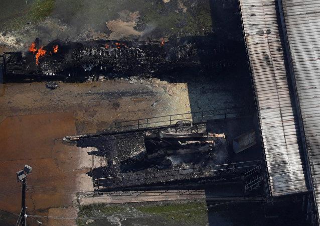 Incendio en la planta química Arkema en Texas, EEUU