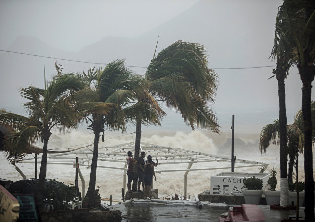Tormenta tropical Lidia (imagen referencial)