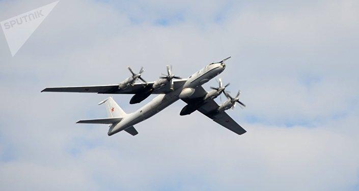 El avión antisubmarino ruso Tu-142 (imagen referencial)