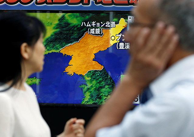 Corea del Norte en el mapa
